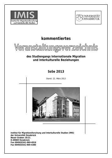 SoSe 2013 - IMIS - Universität Osnabrück