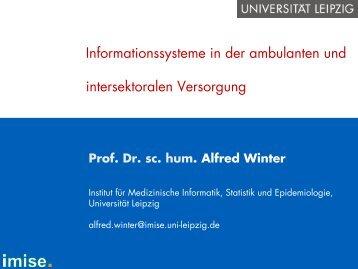 Informationssysteme in der ambulanten und intersektoralen ...