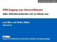 VPN-Zugang zum Universitätsnetz - Institut für Medizinische ...