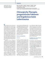 Chirurgische Therapie, prognostische Faktoren und ... - Springer