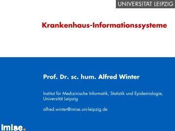 Krankenhausinformationssysteme - Institut für Medizinische ...