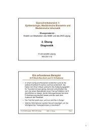 Handout Übung 2 - Institut für Medizinische Informatik, Statistik und ...
