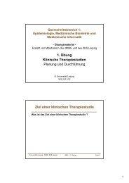 Handout Übung 1 - Institut für Medizinische Informatik, Statistik und ...
