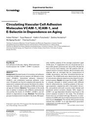 Circulating Vascular Cell Adhesion Molecules VCAM-1, ICAM-1 ...