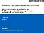 Schnittstellenanalyse und - Institut für Medizinische Informatik ...