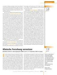 Bericht über die GMDS (127 kB, 2 Seiten) - IMISE - Universität Leipzig
