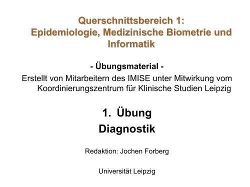 "Übung 1: ""Diagnostik"" (107 kB, 28 Seiten) - IMISE - Universität Leipzig"