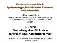 Folien zur Übung - Institut für Medizinische Informatik, Statistik und ...