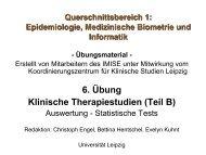 Biometrie für Mediziner - Institut für Medizinische Informatik, Statistik ...