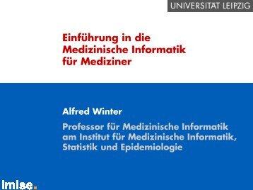 Einführung in die Medizinische Informatik für Mediziner - Institut für ...