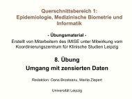 Biometrie für Mediziner - IMISE - Universität Leipzig