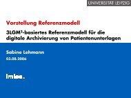3LGM2-basiertes Referenzmodell für die digitale ... - IMISE