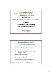 Handout Übung 3 - Institut für Medizinische Informatik, Statistik und ...