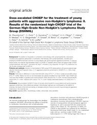 Dose-escalated CHOEP for the treatment of young patients with ...