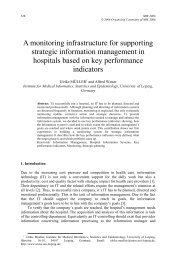 A monitoring infrastructure for supporting strategic information ...