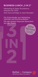 Veranstaltungskalender 2014 - Batten & Company