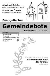 Oktober/November 2013 - gemeindebote.org