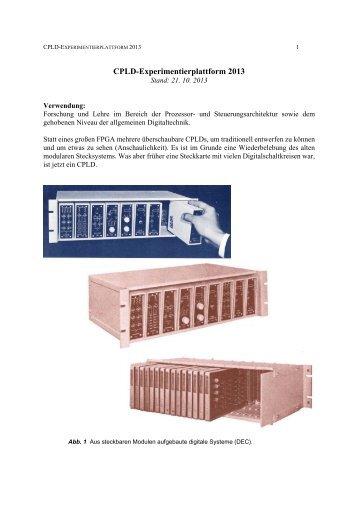 CPLD-Experimentierplattform 2013 - zu PCs und Mikrocontrollern