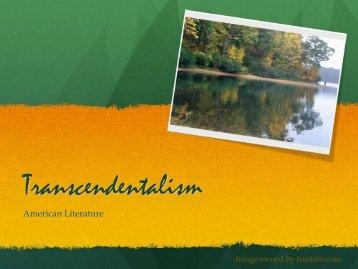 Emerson Transcendentalism