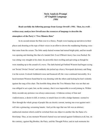 1984 literary analysis essay