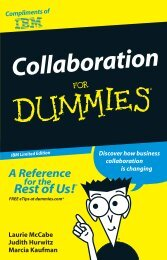 Collaboration For Dummies® IBM Limited Edition - instructional ...