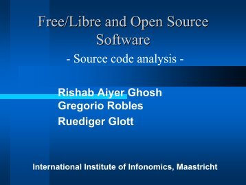 Free/Libre and Open Source Software: Source code analysis