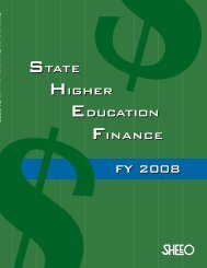 State Higher Education Finance FY 2008 - instructional media + magic