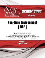 SCORM 2004 4th Edition Run-Time Environment (RTE)