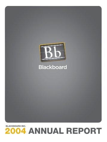 SEC Form 10-K Blackboard Inc. 2004 Annual Report