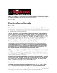 How Open Source Stacks Up