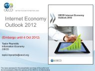 OECD Internet Economy Outlook 2012 (Presentation)