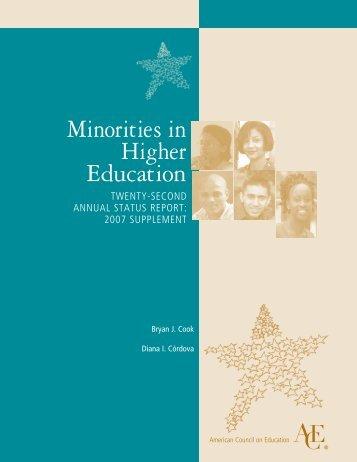 Minorities in Higher Education: Twenty-Second Annual Status ...
