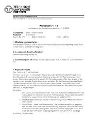 Protokoll 7 / 13 - Fakultät Elektrotechnik und Informationstechnik
