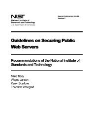 NIST 800-44 Version 2 Guidelines on Securing Public Web Servers