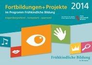 Fortbildungskalender 2014 im Programm Frühkindliche Bildung