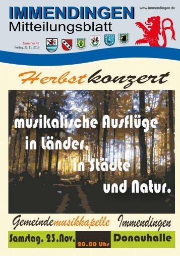 Mitteilungsblatt KW 47 - Immendingen
