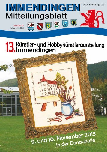 Mitteilungsblatt KW 45 - Immendingen