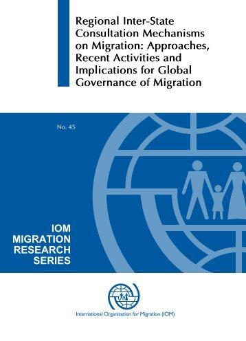 Regional Inter-State Consultation Mechanisms on Migration ...