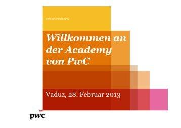 Gewappnet für 2013 - PwC