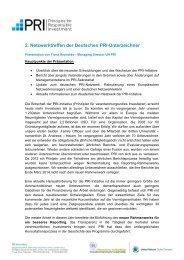 Präsentation beim PRI-Netwerktreffen - KfW