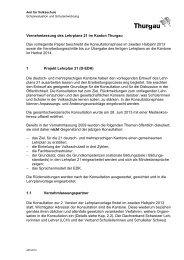 Konzept zur Vernehmlassung des Lehrplans 21 im Kanton Thurgau