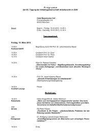 P r o g r a m m der 65. Tagung der Arbeitsgemeinschaft Arbeitsrecht ...