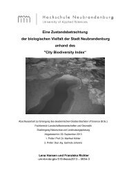 City Biodiversity Index - Digitale Bibliothek NB - Hochschule ...