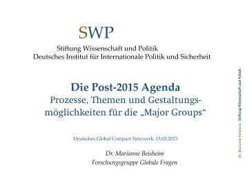 """Major Groups"" - Arbeitstreffen, 13. März 2013 - Deutsches Global ..."