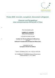 Polska 2050. Innovativ, europäisch, ökonomisch erfolgreich ...