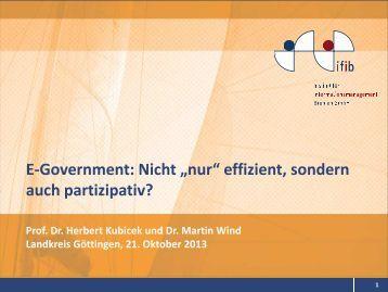 """E-Government: Nicht """"nur"""" effizient, sondern auch partizipativ? - ifib"""