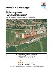 Planungsrechtliche Festsetzungen und örtliche ... - Immendingen