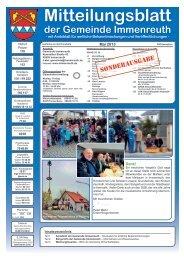 Mitteilungsblatt Mai 2013 - Sonderausgabe - Immenreuth