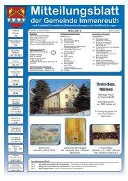 Mitteilungsblatt März 2013 - Teil 1 - Immenreuth