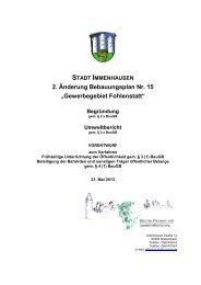 Begründung und Umweltbericht - Stadt Immenhausen